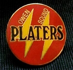 OWEN SOUND PLATERS 1990s hockey Metal Lapel Pin