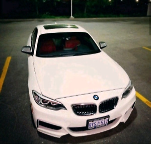 BMW M235i (6-Speed Manual) - White on Red