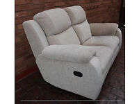 Sofa 2 Seater, fully reclining, Champagne colour good condition