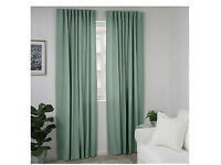 Free brand new green IKEA curtains