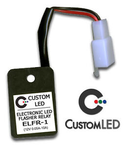 LED Flasher Relay FAST BLINKER FIX Plug and Play for Most Motorcycles! ELFR-1