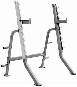 "Vo3 Weight Squat Rack with 12"" Spotter Arms"