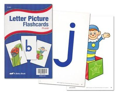 Used, Abeka K4-K5 Letter Picture Flashcards (78 cards) for sale  USA