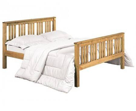 Solid, Double, Brazilian, Pine, Wooden Bed, Frame, Ortho, Sprung ...