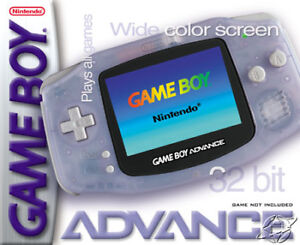 USED: Nintendo, Game Boy Advance, with Worm Light and 9 Games