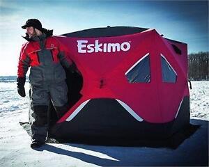 NEW ESKIMO FATFISH POP-UP SHELTER   6120I SHELTER - TENT OUTDOORS ICE FISHING CAMPING RECREATION  84372160