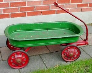 Antique 1930s 40s childs large toy Steel wagon London Ontario image 1