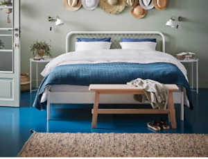 King Sized Bed Frame and Slats - Mint