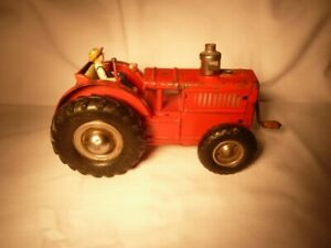 Antique Metal Wind Up Tractor