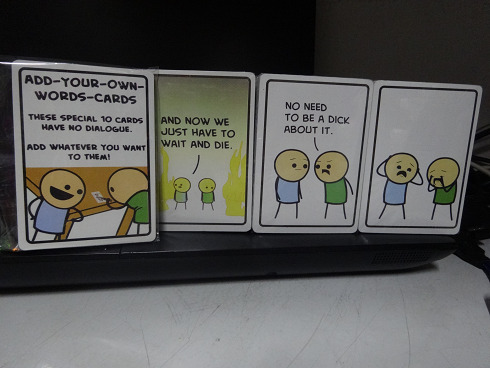 Joking Hazard an offensive card game from Cyanide & Happiness
