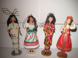Barbie Christmas tree ornaments. Dolls of the world