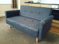 Grey Argos Two Seater Sofa