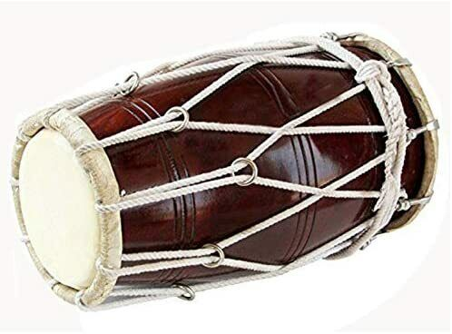 Wedding Kirtan Sangit Dhol/Dholak/Dholki Drum with Carry Bag,nice