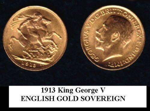 1913 Gold Sovereign Ebay