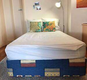 King single bed on castors - good condition Oakleigh Monash Area Preview
