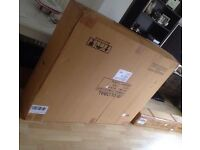 Double leather bed brand new