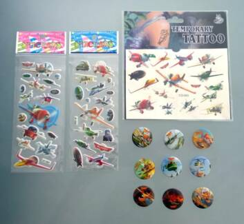 Disney Planes Temporary Tattoo Badges Pins Stickers Party Favors