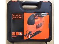 Black and decker jigsaw in kitbox