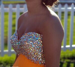 Beautiful orange prom dress for sale!