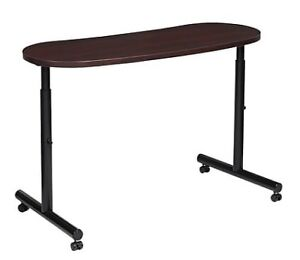 Global® Height Adjustable Table, Mahogany