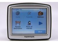 TOMTOM ONE 30 SERIES WITH UK MAPS. GOOD CONDITION. INCLUDES ORIGINAL CHARGER AND WINDOW MOUNT