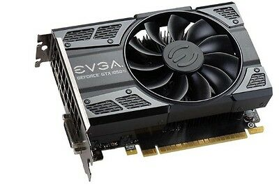 EVGA GTX 1050 Ti GAMING, 04G-P4-6251-KR, 4GB GDDR5, Video Card New!