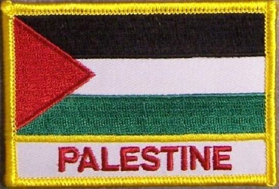 Embroidered International Patch National Flag of Palestine NEW flag