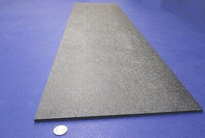 Black Abs Sheet 14 .236 X 12 X 48 Haircell Textured One Side