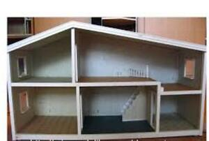 LUNDBY DOLL HOUSE - Vintage - includes furnishings 3/4 scale