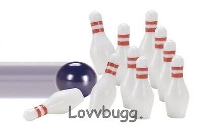 "Lovvbugg Active Play Mini Bowling Set for 18"" American Girl Doll Accessory"