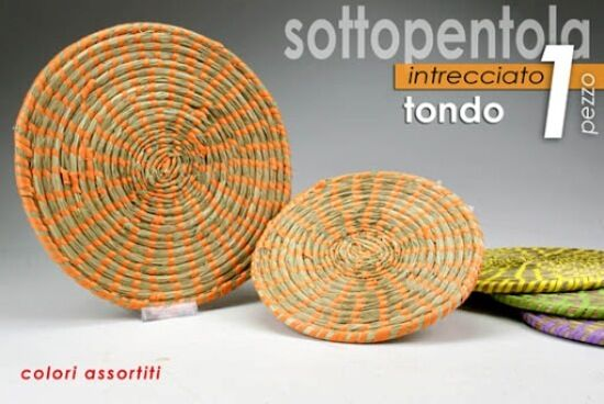 GICOS - SOTTOPENTOLA INTRECCIATO ROTONDO (colori assortiti) cm.23