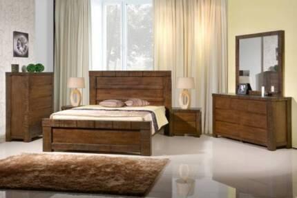 4 pce Jamaica Queen Bedroom Suite AV At Both Showrooms