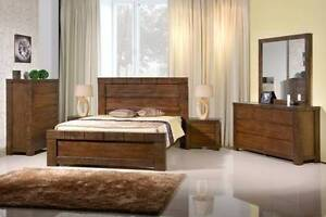 3 pce Jamaica Queen Bedroom Suite ( 1 x Bed Frame, 2 x Bedsides ) Wangara Wanneroo Area Preview