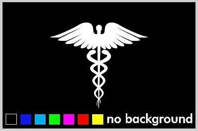 - Caduceus Symbol Medic Sticker Vinyl Decal Car Truck Window Life EMT Medical Save