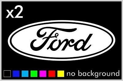 (2) Ford Sticker Vinyl Decal Car Truck Wheel Hub Cap Oval Wall Laptop Window - Oval Vinyl Sticker