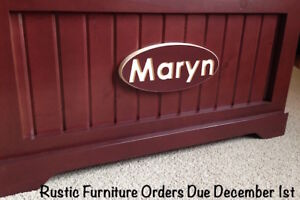 Personalized & Engraved Solid Wood Toy Chest - Great gift idea