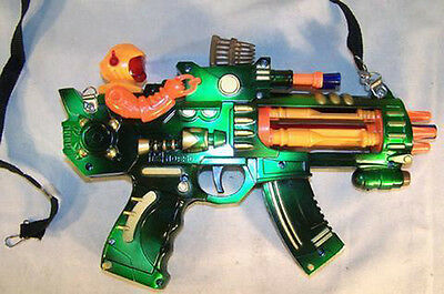 ROBOT FIRE ROTATING FLASHING LIGHT UP MACHINE GUN boys lightup toy play guns new - Flashing Light Machine