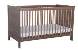 Kiddicare Trio Nursery Furniture Roomset Walnut
