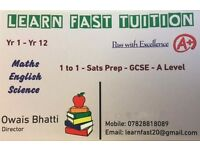 Experienced Tutors/Teachers Wanted for One-One Tuition with Learn Fast Tuition *Send Your CV's Now*