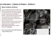 Cobbles Pebbles Boulders Basalt Grey stones 1 tonne BARGAIN!