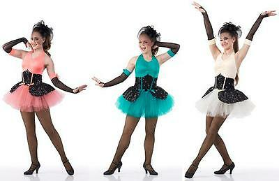 Oo La La Tutu Dance Ballet Costume 3 Colors GROUPS! Girls CS-Adult XL Showgirl - Groups Costumes