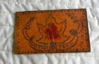 Vintage Leather Post Card With Postage Stamp (Owen Sound)