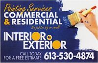 Painting Services   6 1 3 - 5 3 0 - 4 8 7 4