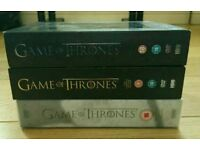Game of Thrones Seasons 1-3 DVD boxsets