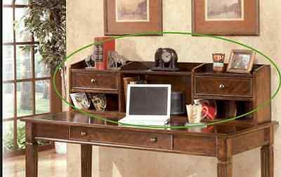 Signature Outline by Ashley Home Office Short Desk Hutch Hamlyn Medium Brown NEW