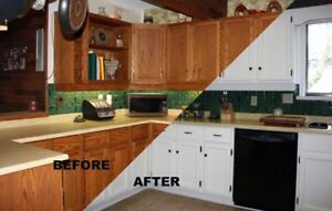 KItchen , Sinks, Backsplash  Tiles Cabinets REGLAZING