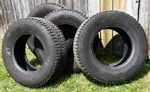 Used winter tires for pickup – Firestone P255/70R16