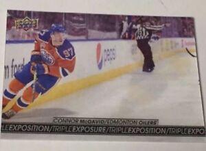 2017-18 Tim Hortons hockey Connor McDavid Triple Exposure card