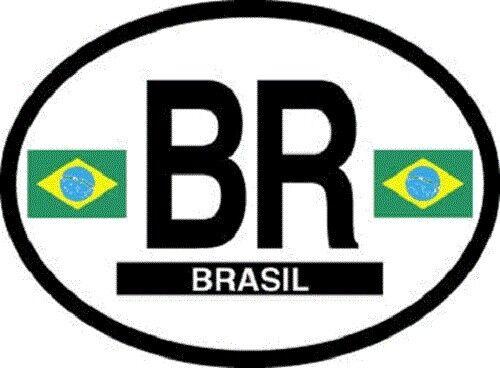 Brazil Flag Sticker - New in package