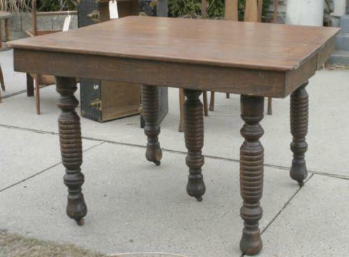 Antique Oak Leaf Table Ebay
